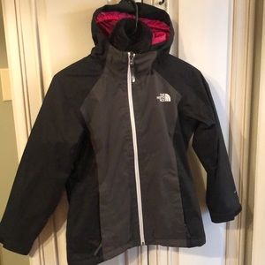 New Girls North Face 2 in one jacket